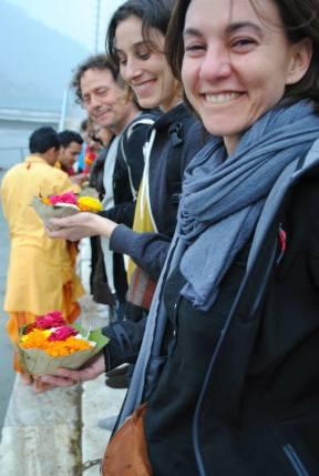puja+ofrenda al río Ganges