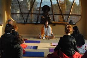 yoga mañanero con Ganga Puri...todo un lujo...